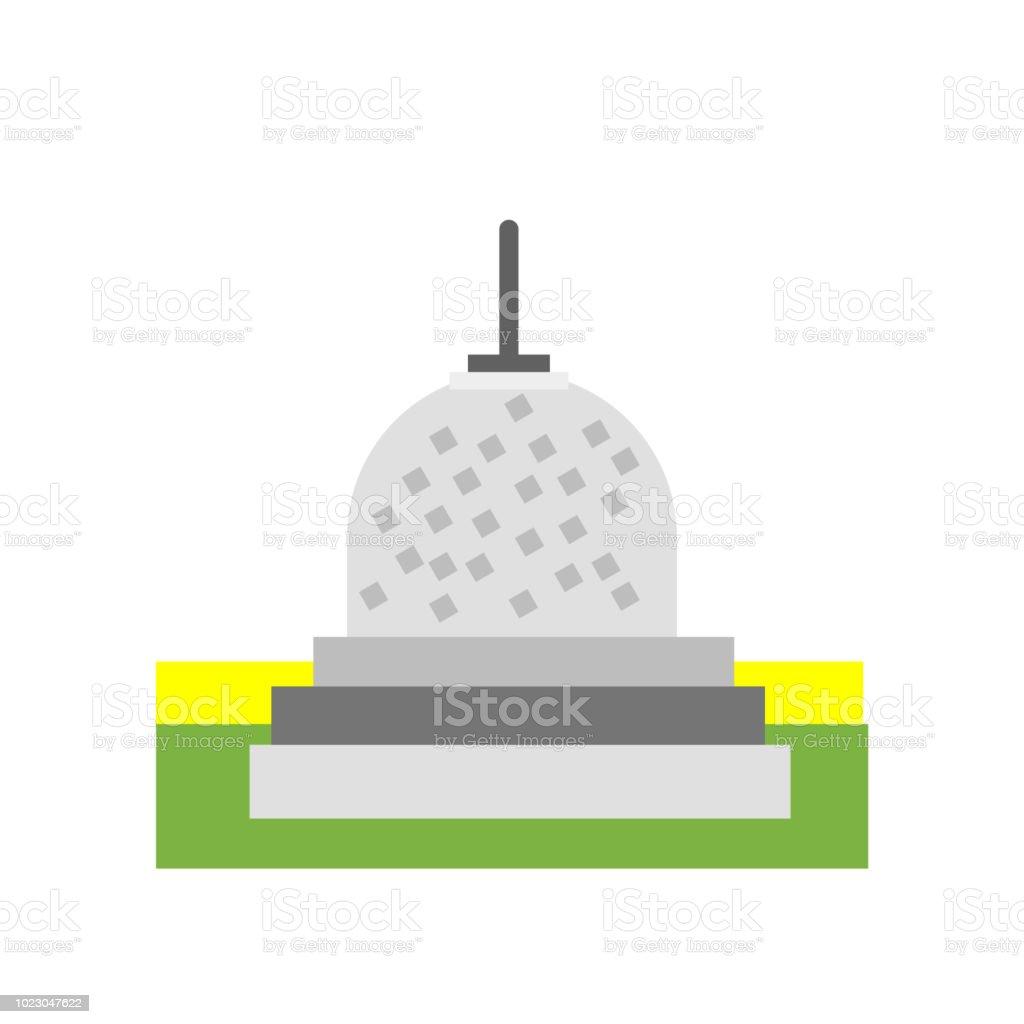 Borobudur icon vector sign and symbol isolated on white background, Borobudur symbol concept vector art illustration