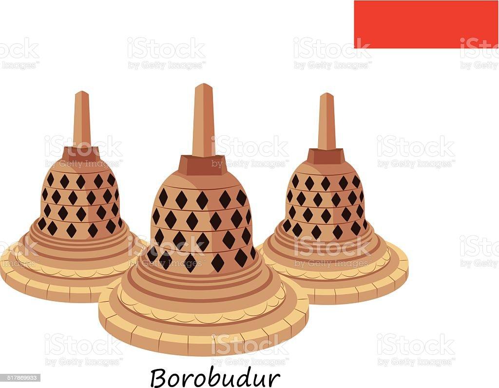 Borobudur vector art illustration