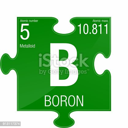 Boron Symbol Element Number 5 Of The Periodic Table Of The Elements