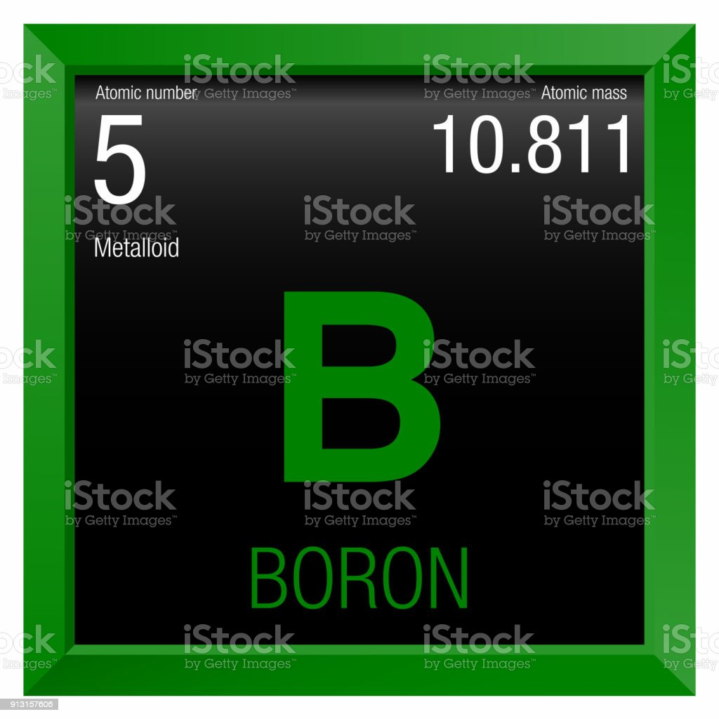 Boron symbol element number 5 of the periodic table of the elements element number 5 of the periodic table of the elements chemistry royalty urtaz Image collections