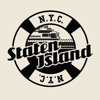 Borough of Staten Island, New York City, typography design