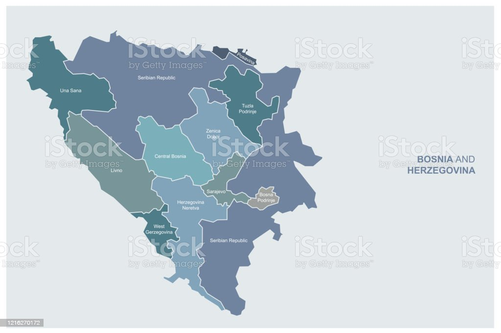 Bosnia Map Bosnia And Herzegovina Vector Map Stock Illustration Download Image Now Istock