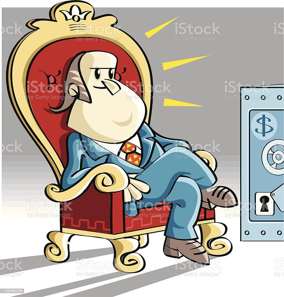 boss and his dollars royalty-free stock vector art