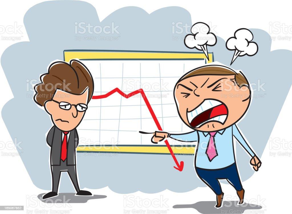 Boss angry! royalty-free stock vector art