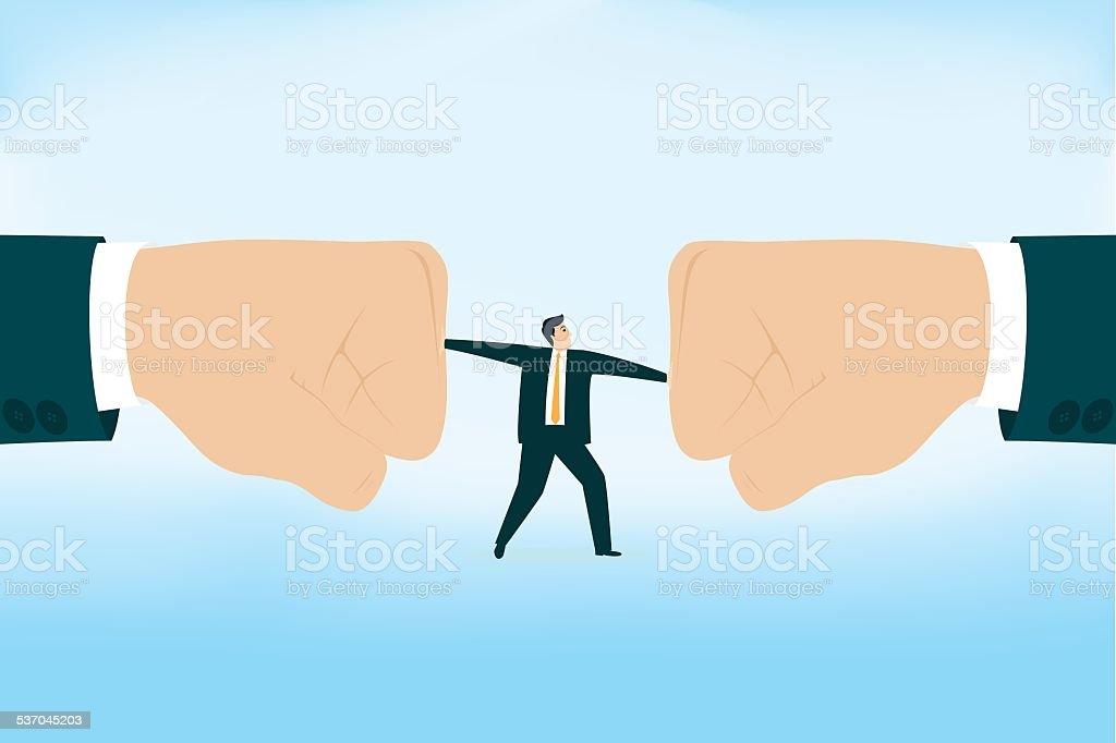 Boss Blaming vector art illustration