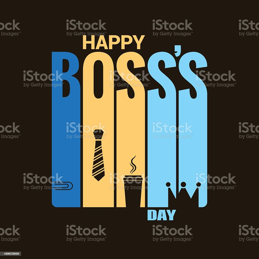 boss day holiday design vector background vector art illustration