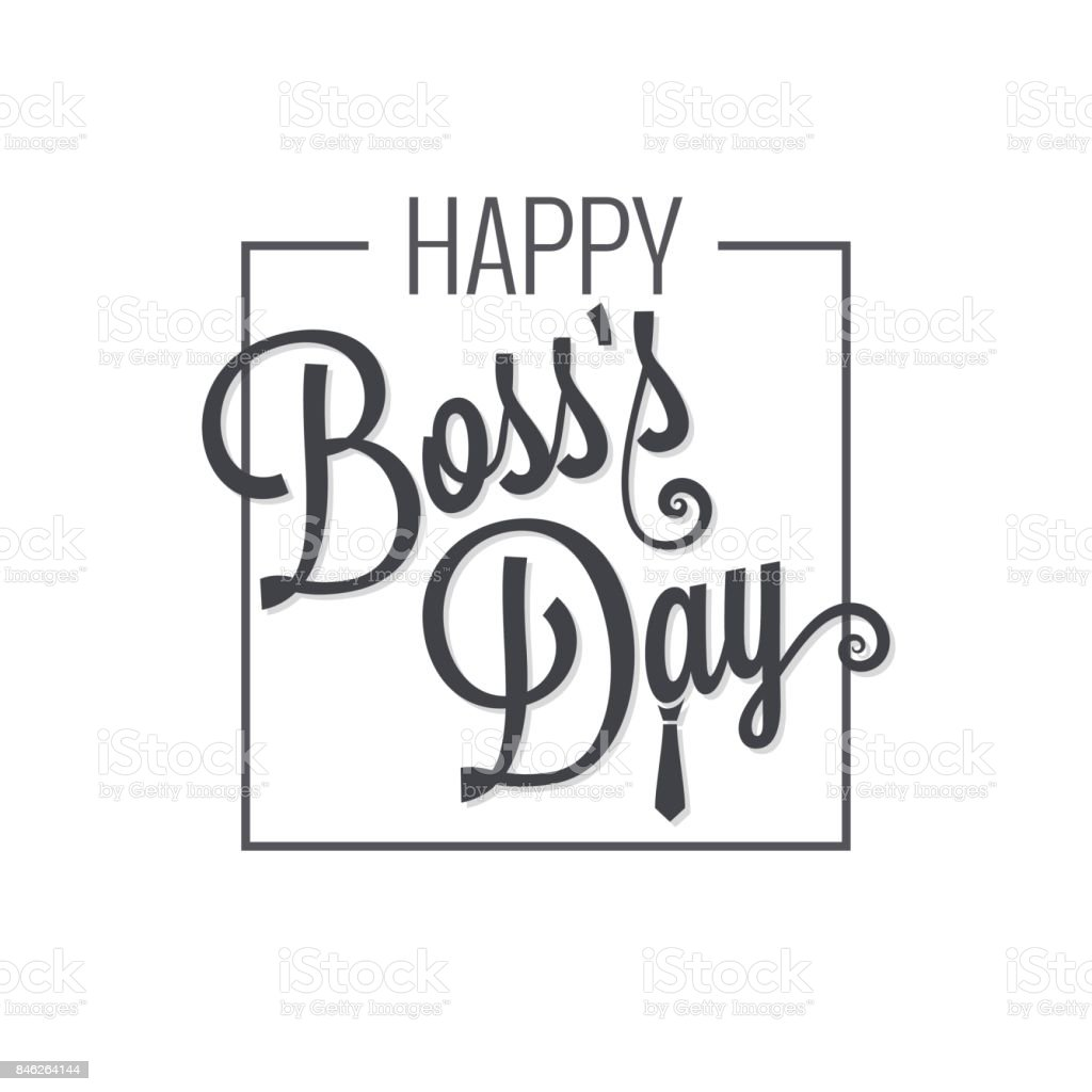 royalty free boss day retro card clip art vector images rh istockphoto com happy boss's day clipart free boss day clipart quotes
