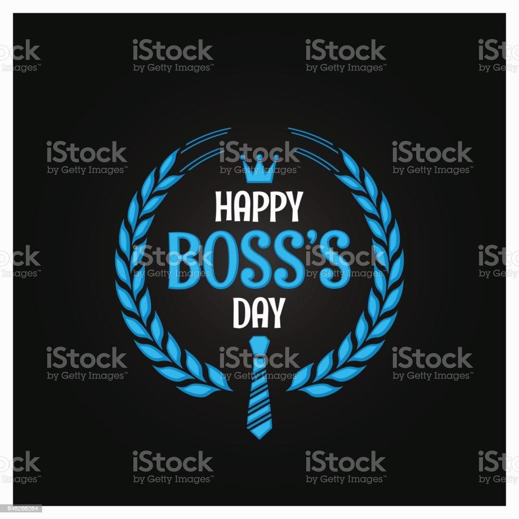 boss day icon sign design background - arte vettoriale royalty-free di Affari