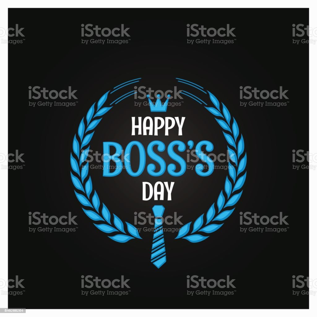 boss day icon sign design background vector art illustration