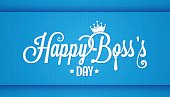 boss day icon vintage lettering design background
