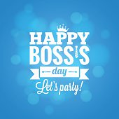 boss day party card design vector background