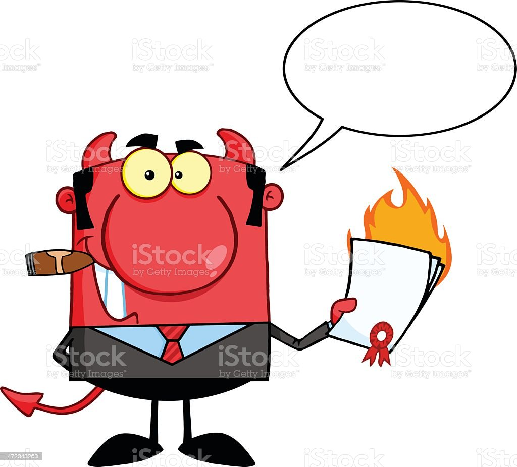 Boss Holding A Flaming Contract royalty-free boss holding a flaming contract stock vector art & more images of adult