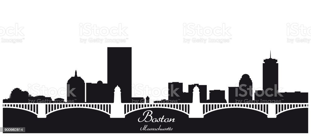 royalty free boston skyline clip art vector images illustrations rh istockphoto com  boston skyline silhouette vector