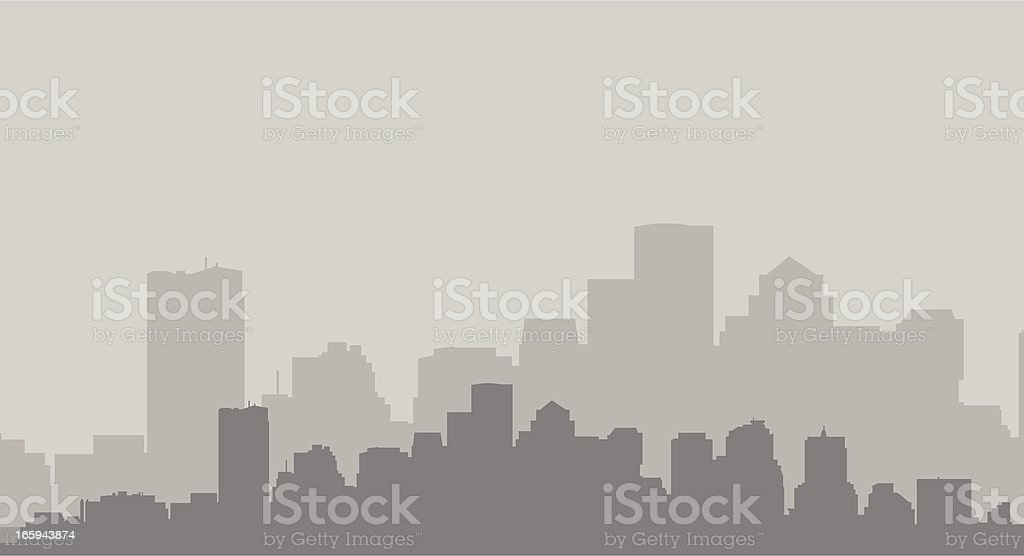 Boston Skyline in Gray royalty-free stock vector art