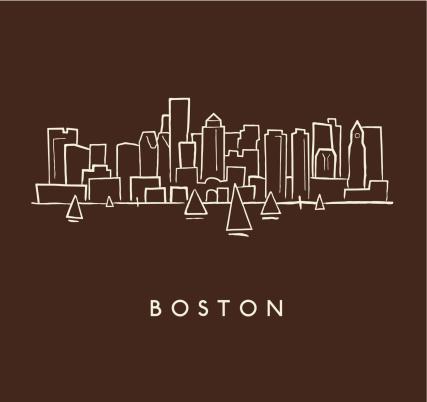 Boston Skyline Sketch