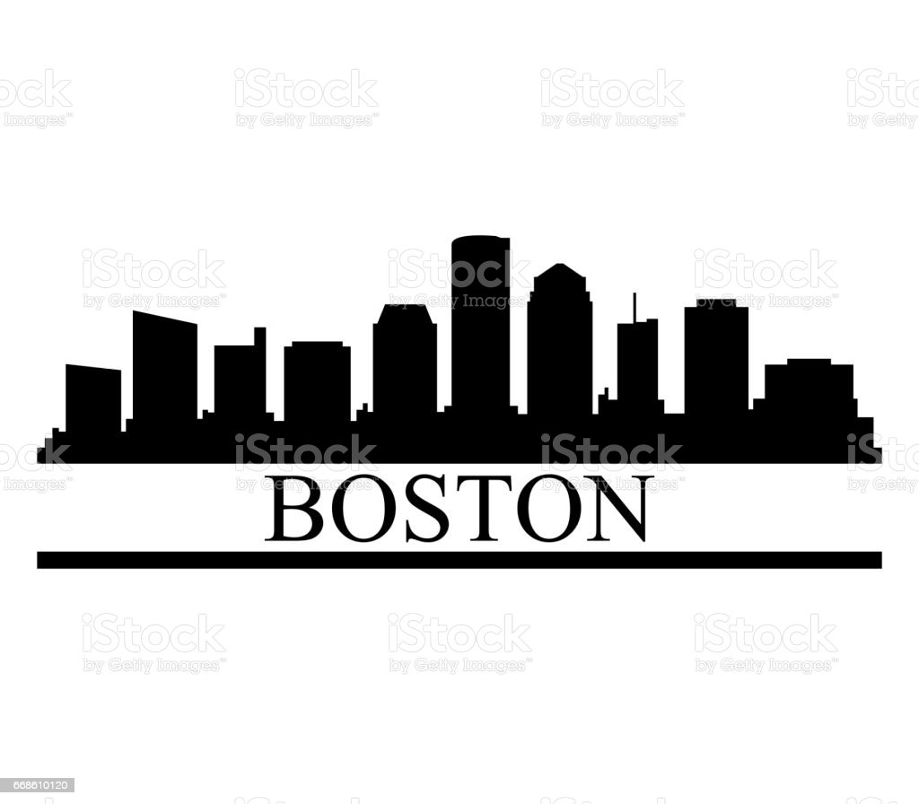 boston skyline stock vector art more images of architecture rh istockphoto com  boston skyline silhouette vector