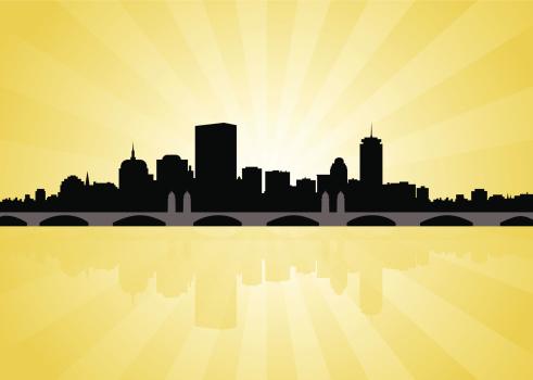 Boston Skyline with Longfellow Bridge
