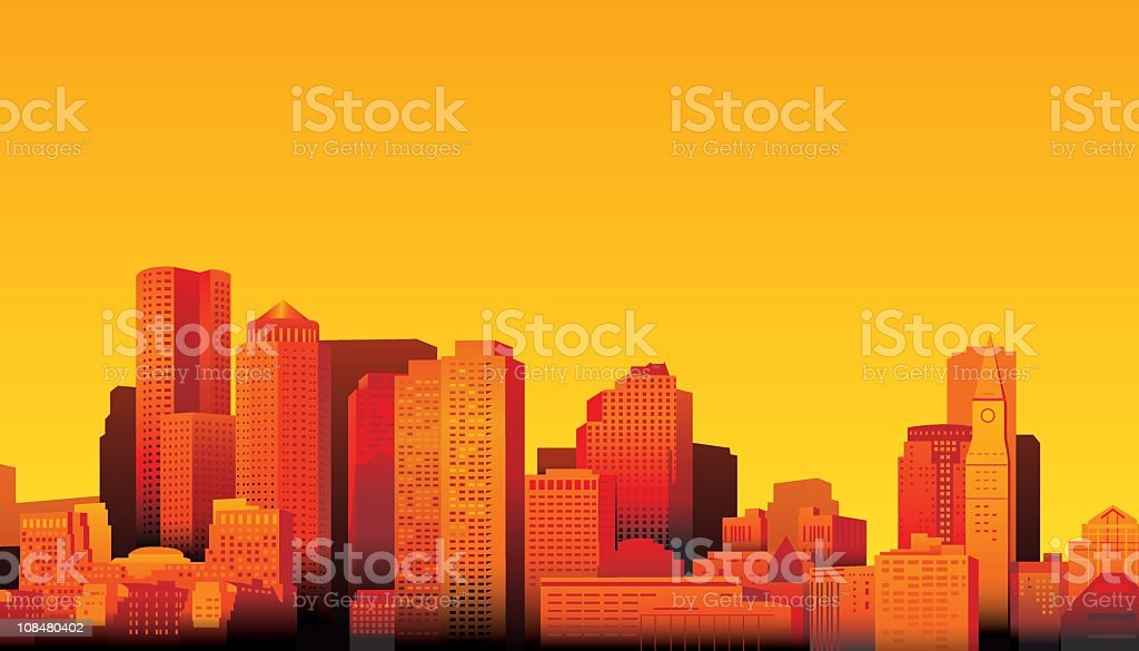 Boston vector art illustration