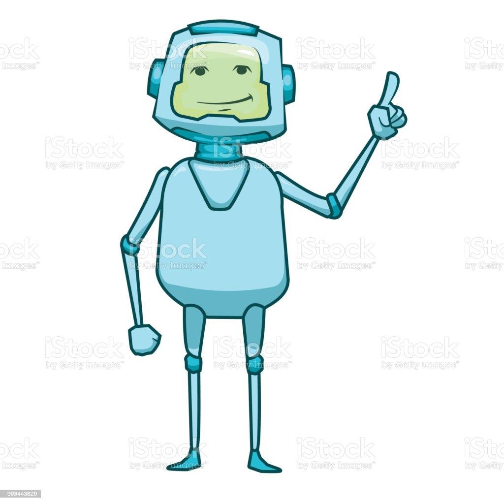 Ikona bota. Koncepcja ikony Chatbota. Ładny uśmiechnięty robot. Wektorowa ilustracja postaci współczesnej linii izolowana na białym tle. Zarys projektu znaku robota. Bot usługi obsługi głosowej. Wirtualna pomoc techniczna online - Grafika wektorowa royalty-free (Biznes)