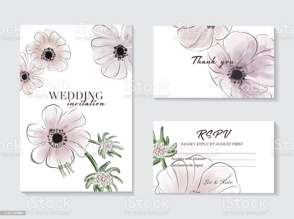 Ilustración De Diseño De La Plantilla De La Tarjeta De