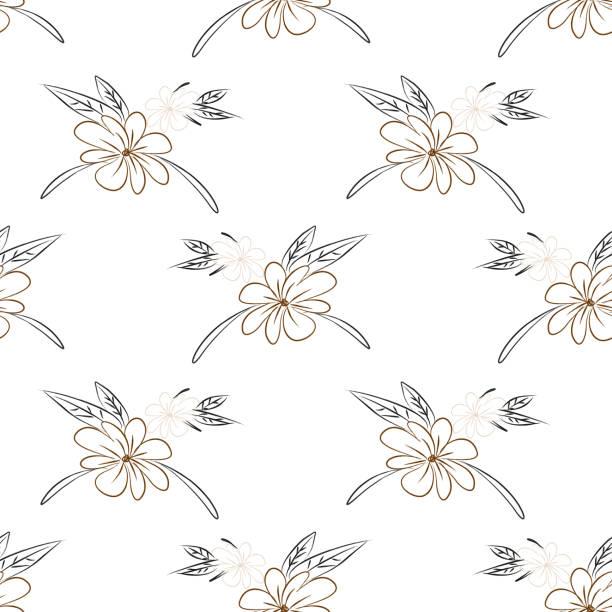 bildbanksillustrationer, clip art samt tecknat material och ikoner med botaniska blommig vektor sömlös mönster med handritade örter, växter, blommor och blad. minimalistisk stil. - swedish nature