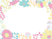 Cute botanical decorative frame illustration