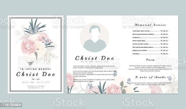 Botanical memorial and funeral invitation card template design pink vector id1161300604?b=1&k=6&m=1161300604&s=612x612&h=baf0wcr7oqyfa fjchgbjo o3mmribtw7g0olmsjkds=
