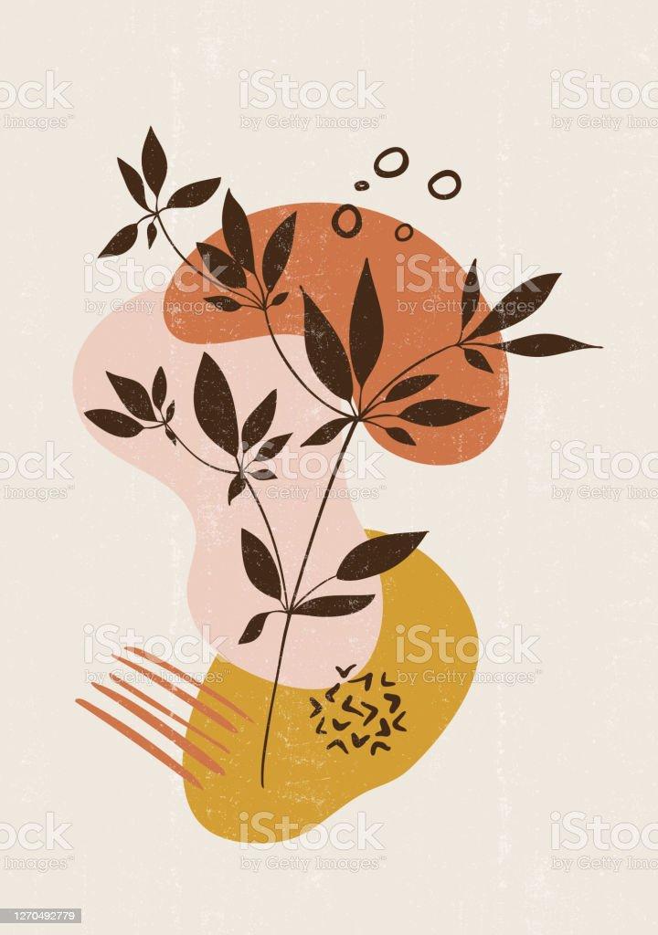 Botanical Print Boho Minimalist Printable Wall Art Stock Illustration Download Image Now Istock