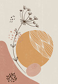 istock Botanical print boho minimalist printable wall art 1270492783