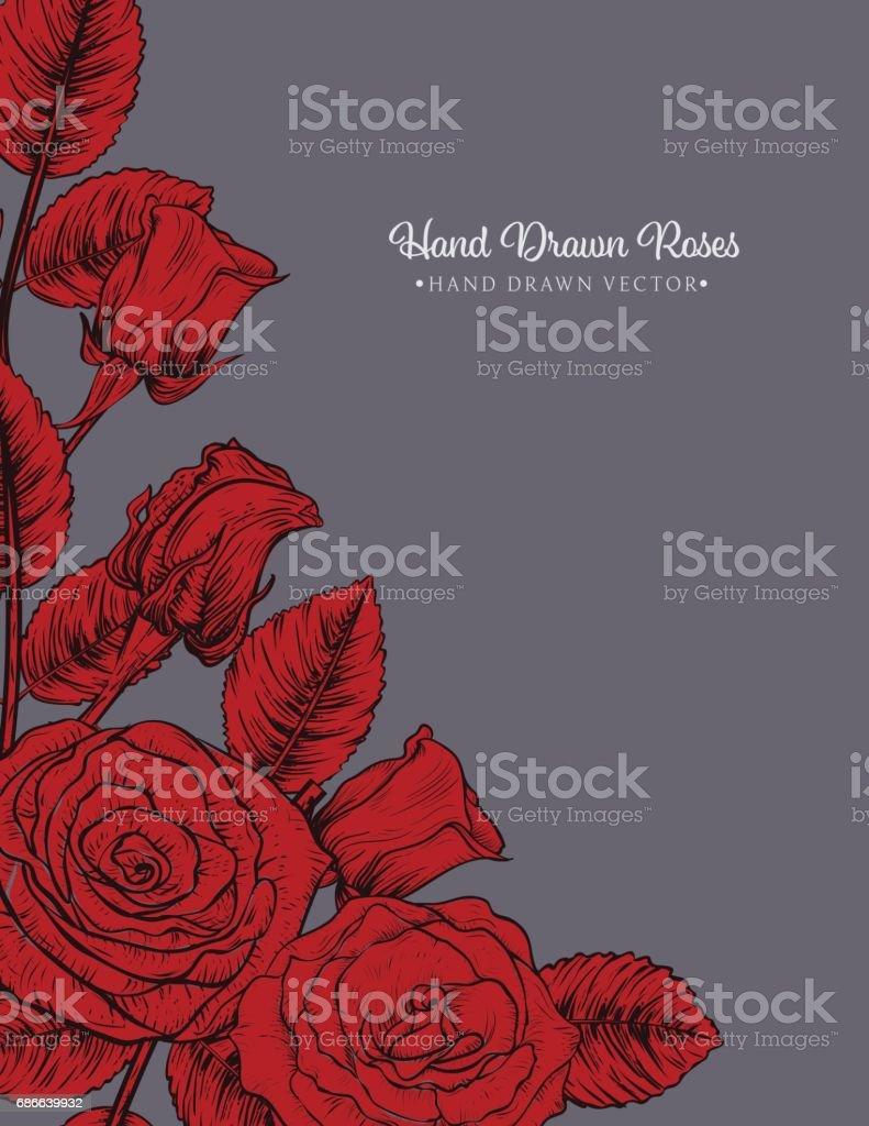 Botanical Roses Invitation Template royalty-free botanical roses invitation template stok vektör sanatı & arka planlar'nin daha fazla görseli