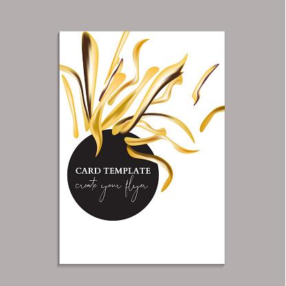 Botanical Tender Yellow Nature Wedding Invitation Card