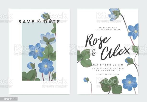 Invitation Card With A Light Blue Theme Download Free