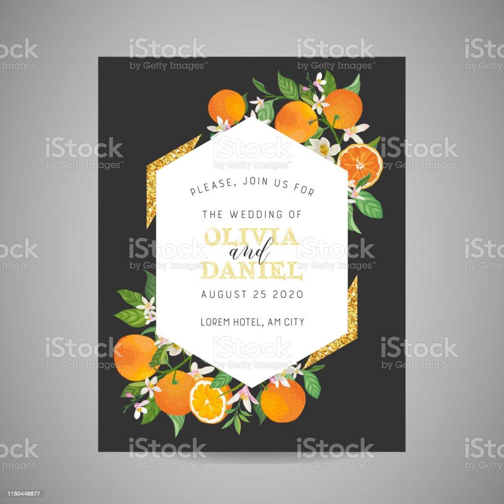Botanical Wedding Invitation Card Vintage Save The Date