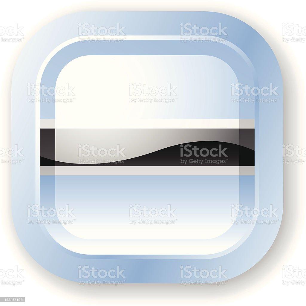 Botswana Flag Icon royalty-free stock vector art