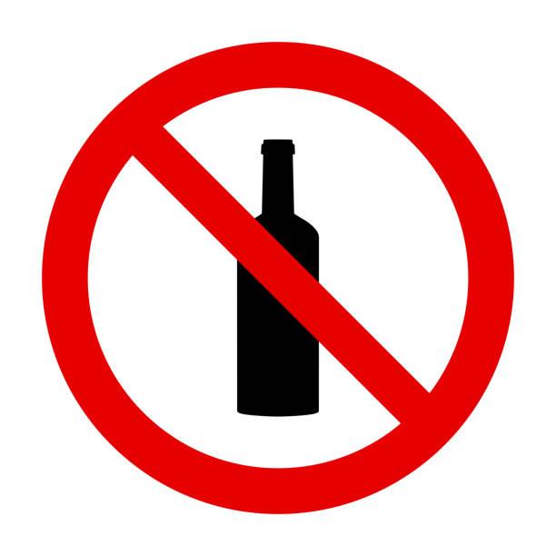 병 및 금지 표지판 - prohibition stock illustrations