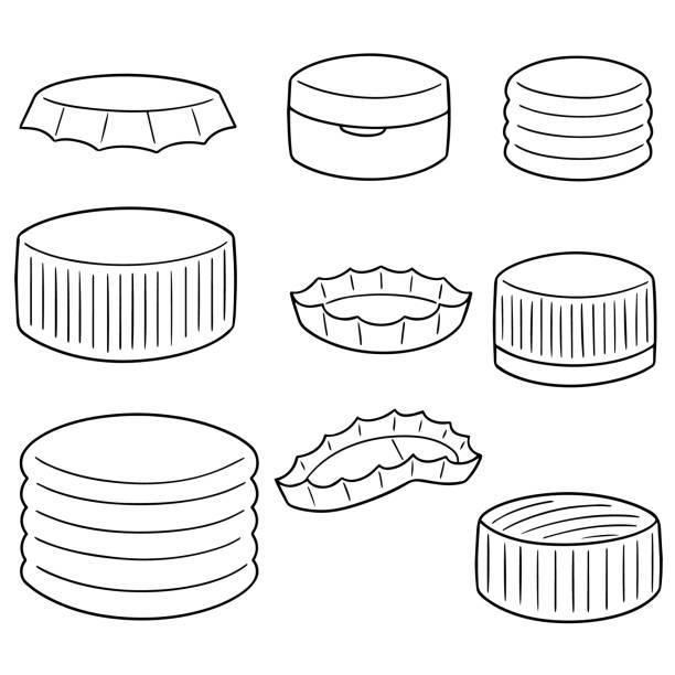 bottle cap – artystyczna grafika wektorowa
