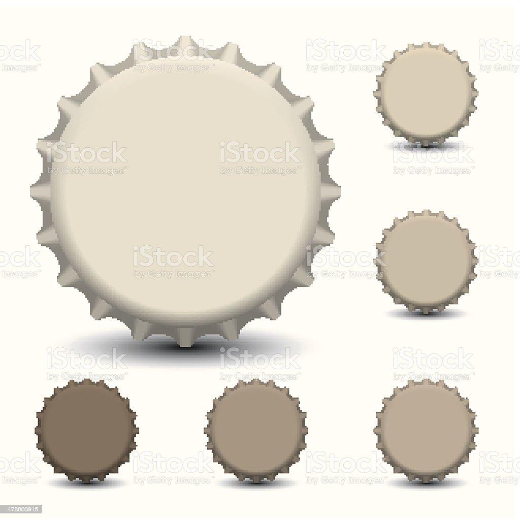 Bottle caps vector isolated on white background vector art illustration