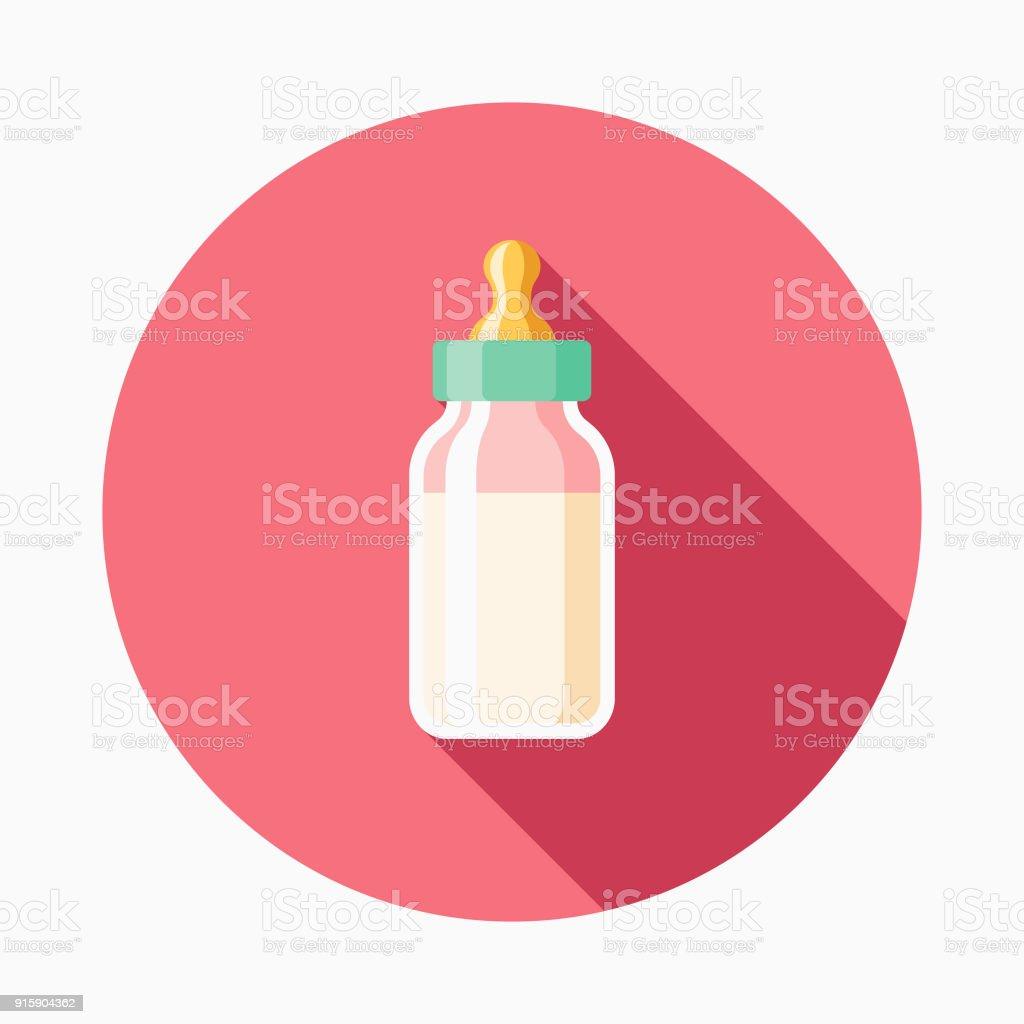 Icône de Baby Bottle Design plat - Illustration vectorielle