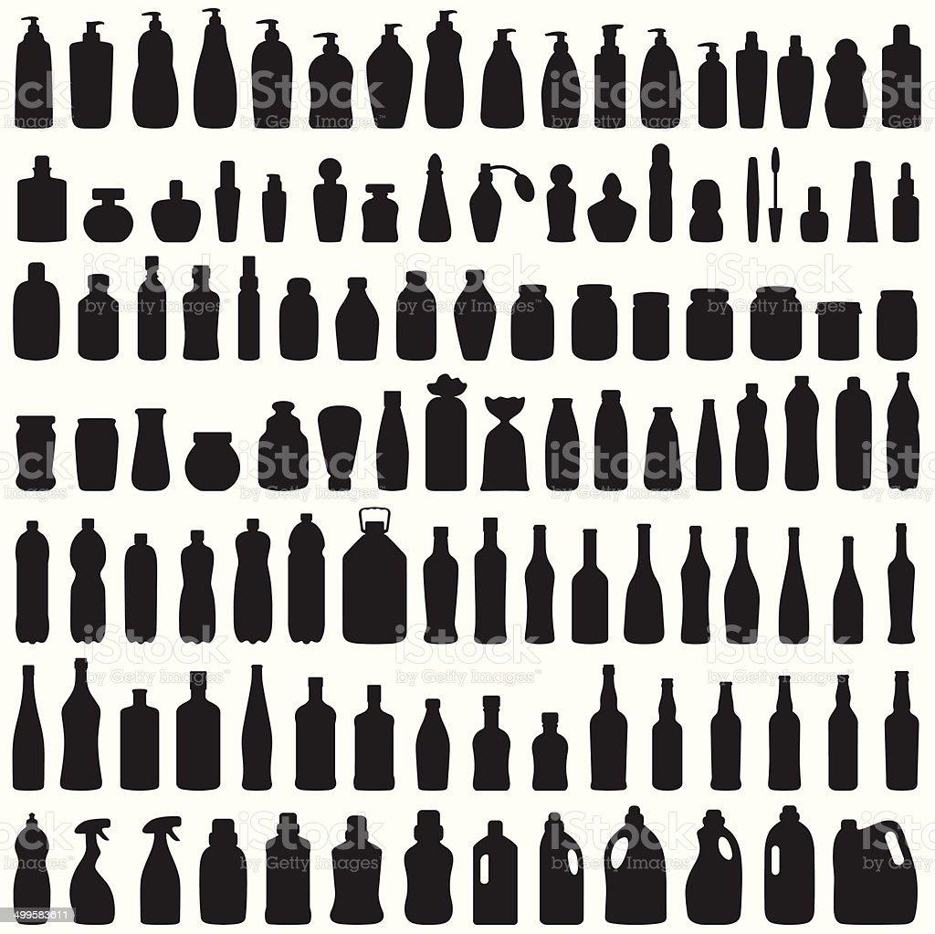 Icono de botella - ilustración de arte vectorial