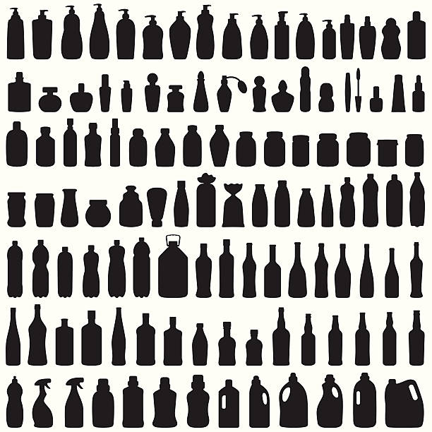 bottle icon - disinfectant stock illustrations