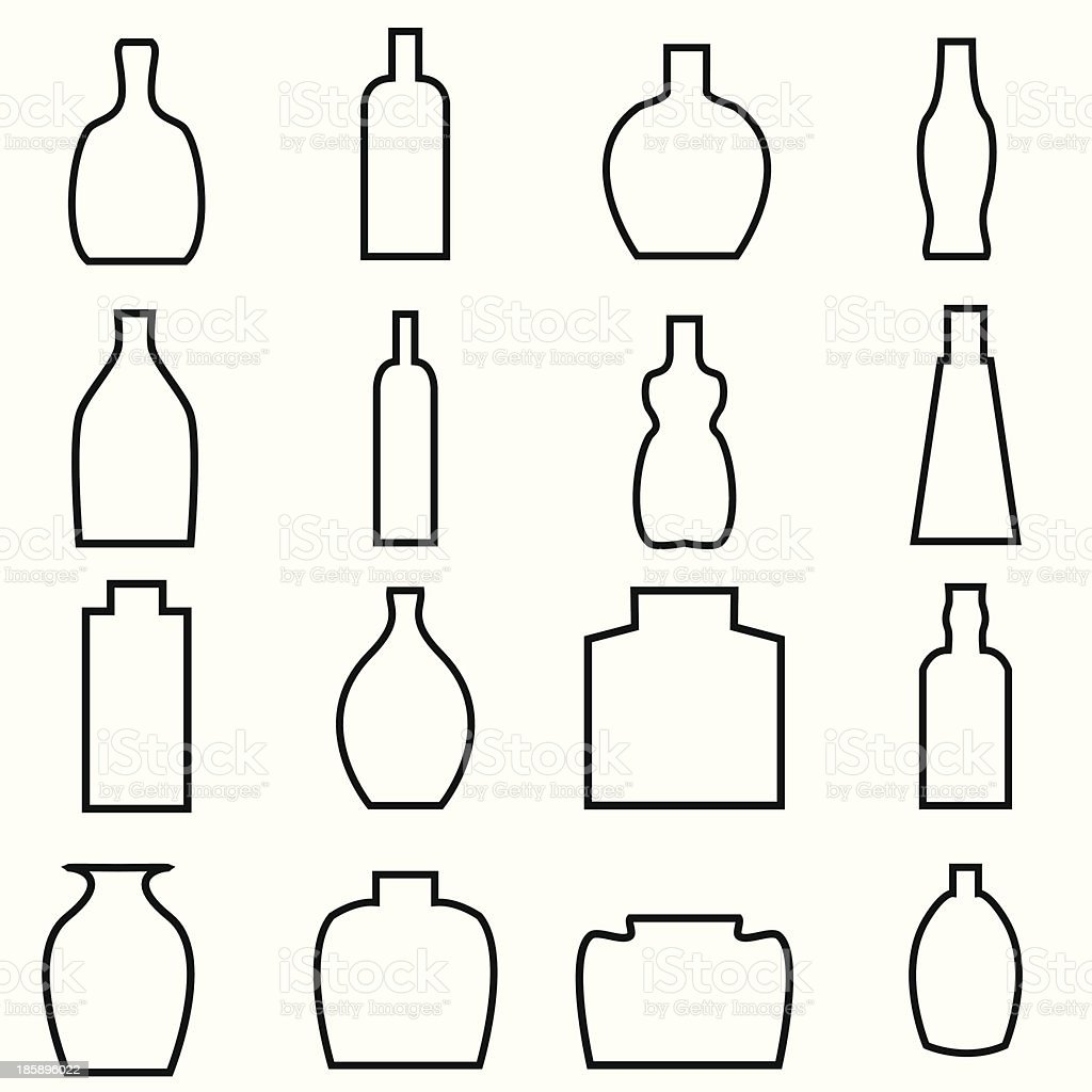Bottle Icon with White Background royalty-free bottle icon with white background stock vector art & more images of alcohol