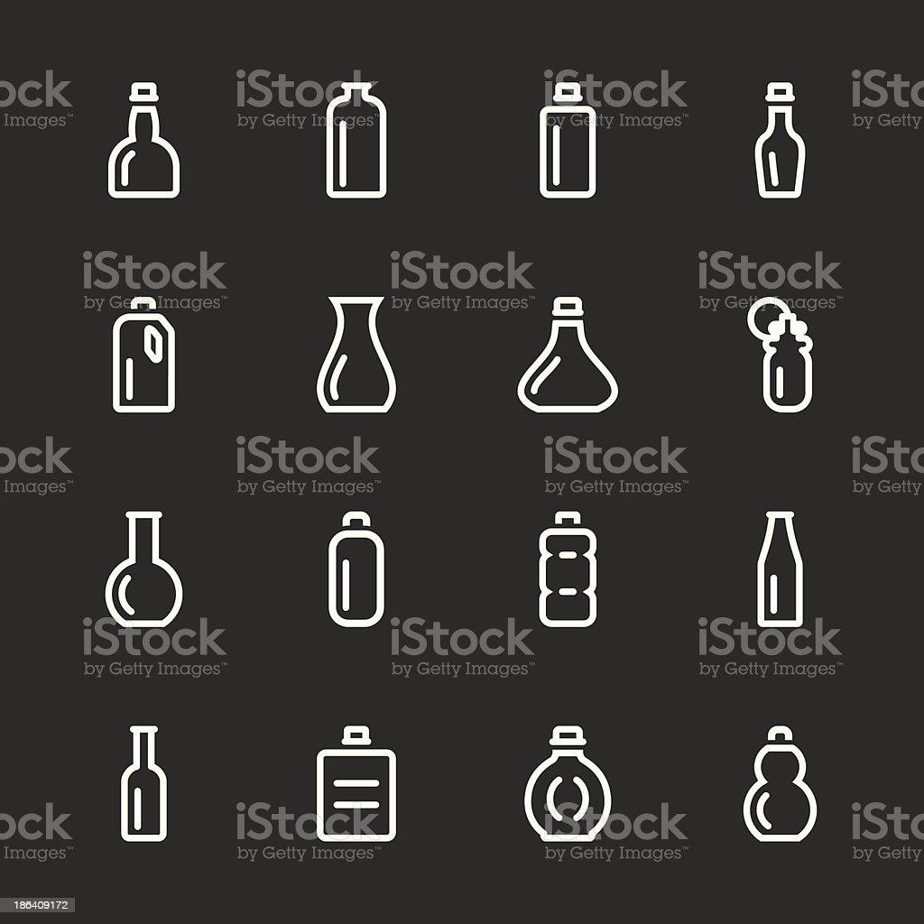 Bottle Icons Set 1 - White Series royalty-free stock vector art