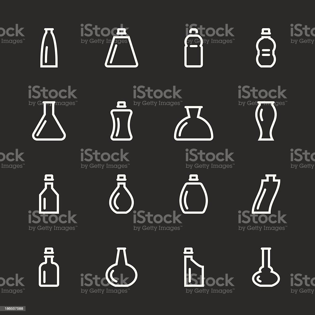 Bottle Icons Set 2 - White Series royalty-free stock vector art