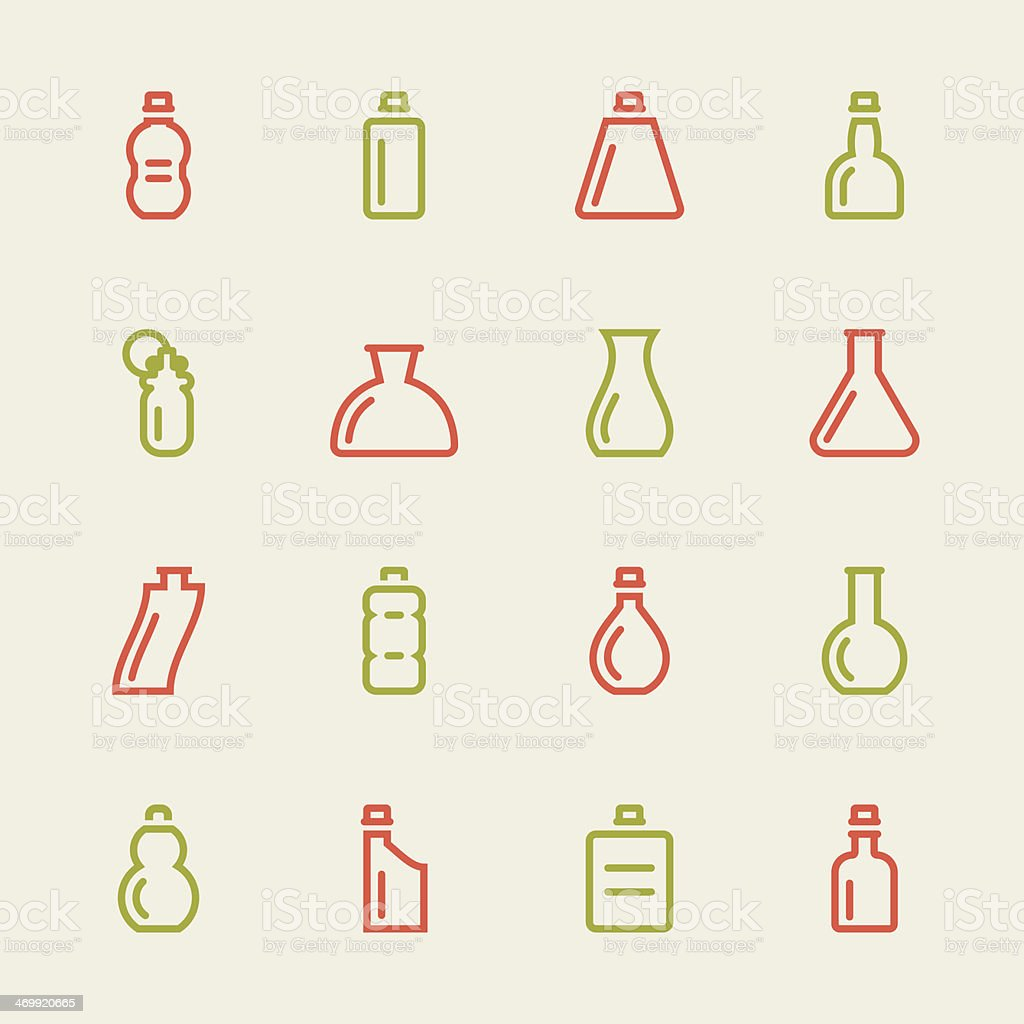 Bottle Icons Set 4 - Color Series royalty-free stock vector art