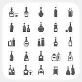 Bottle icons set