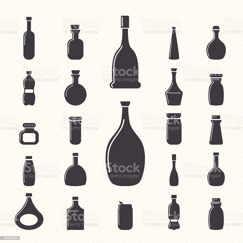 Bottle icons royalty-free stock vector art