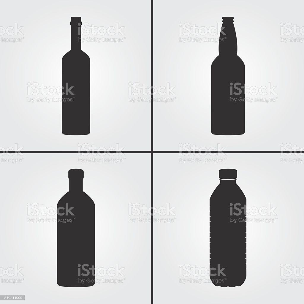 Flasche Symbole Stock Vektor Art und mehr Bilder von Alkoholisches ...