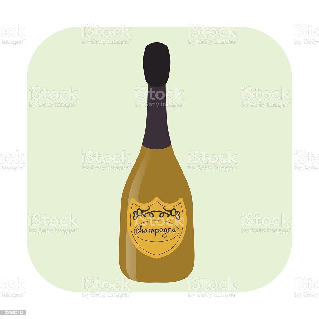 Bouteille De Champagne Dessin icône de dessin animé dune bouteille de champagne – cliparts