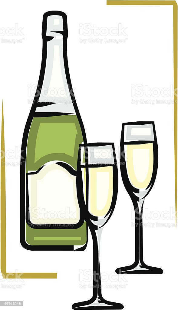 Bottle of Champagne vector illustration royalty-free bottle of champagne vector illustration stock vector art & more images of alcohol