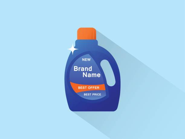 bottle of cleaning product icon - bleach stock illustrations